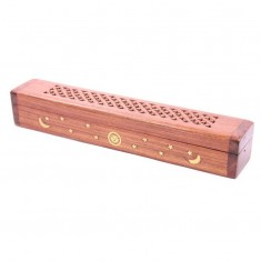 Sheesham Wood Incense Box For Sticks And Cones - Brown