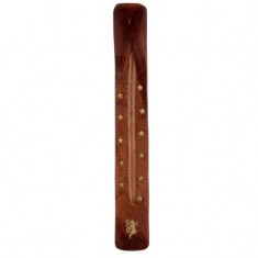 Sheesham Wood Incense Burner Holder Tray Ash Catcher - Fairy