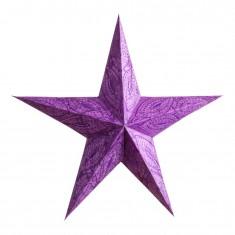 'Sidhartha' Purple - Large Paper Star Light