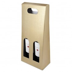 Gold Presentation Box For 2 Wine Bottles