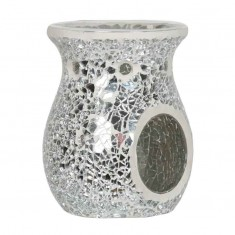 Silver Lustre Wax Melt Oil Burner