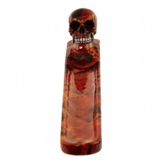 Skull Flames Marble Effect - Resin Incense Ash Catcher front