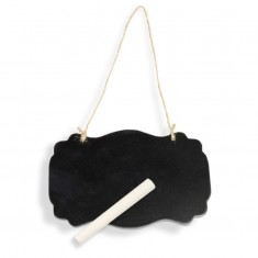 Small Wooden Blackboard with Chalk