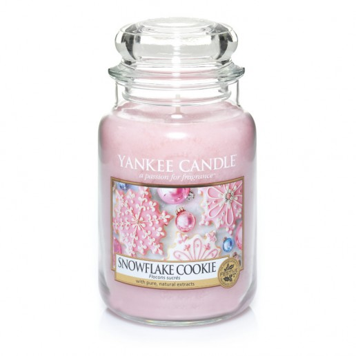 yankee candles snowflake cookie large jar