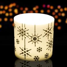 Snowflake - Porcelain Tea Light Candle Holder