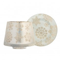 Snowflake S jar shade & plate