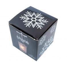 Snowflake - Spinning Tea Light Candle Holder box