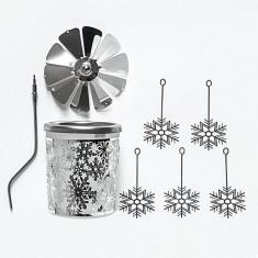 Snowflake - Spinning Tea Light Candle Holder