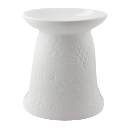Snowflakes side - Porcelain Wax Burner