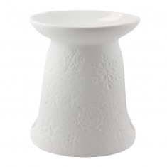 Snowflakes side - Porcelain Wax Burner