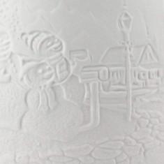Snowmen - Porcelain Wax Burner detail