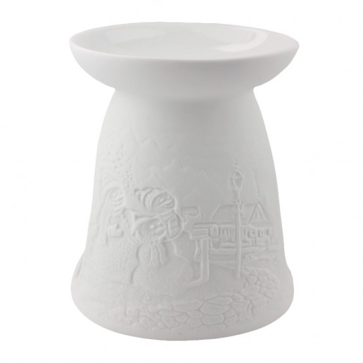 Snowmen - Porcelain Wax Burner side
