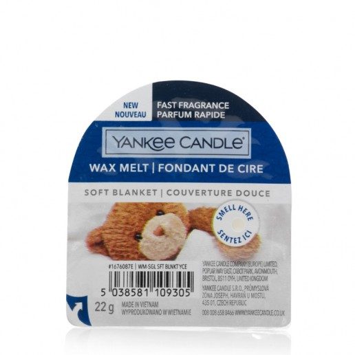 Soft Blanket - Yankee Candle Wax Melt Angle Front