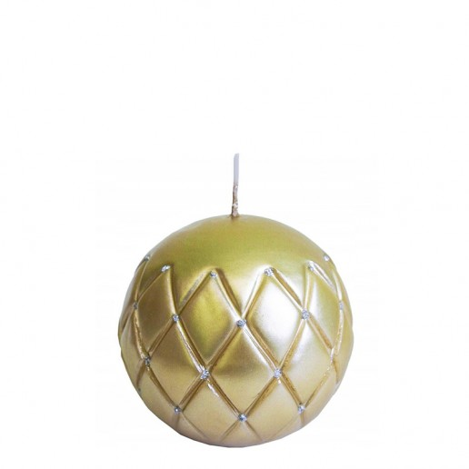 Sphere Candle 10cm - Gold With Silver