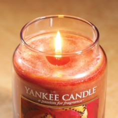 Spiced Orange - Yankee Candle Large Jar lit