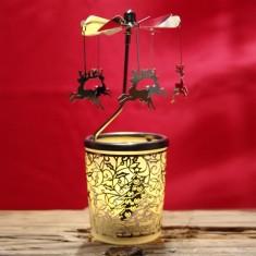 spinning rotary tea light holders