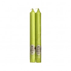 Stearin Taper Candles - Lime