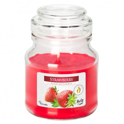 Strawberry - Scented Candle Small Jar Best Smelling Cheap