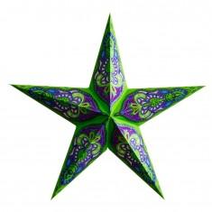 'Sumita' Green Glitter - Large Paper Star Light