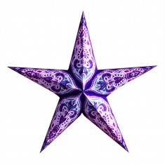 'Sumita' Purple - Large Paper Star Light