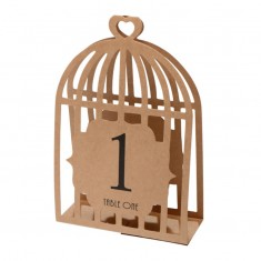 Table Numbers 1-15 Laser Bird Cage - Brown