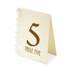 Table Numbers 1-15 Laser Flower - Ivory