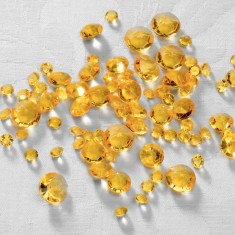 Acrylic table sprinkles yellow gold