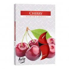 Tea Lights 6pk - Cherry