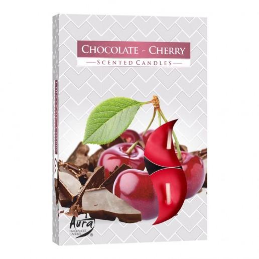 Tea Lights 6pk - Chocolate-Cherry