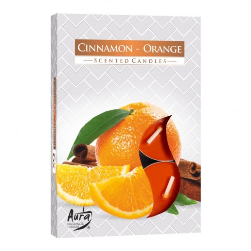 Tea Lights 6pk - Cinnamon Orange
