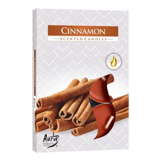 Tea Lights 6pk - Cinnamon