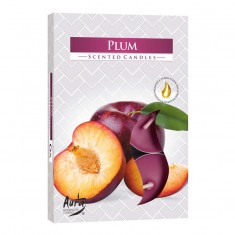Tea Lights 6pk - Plum