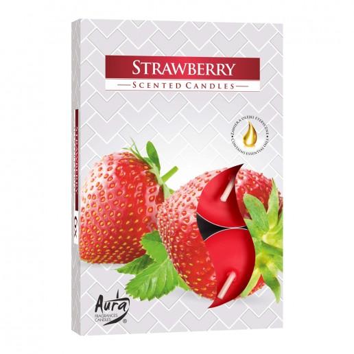 Tea Lights 6pk - Strawberry