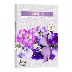 Tea Lights 6pk - Violet