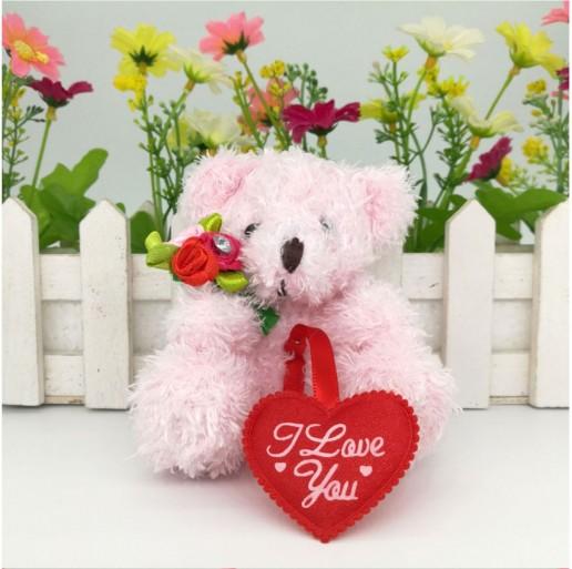 Teddy bear i love you heart pink candlemania altavistaventures Choice Image