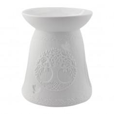 Tree Of Life - Porcelain Wax Burner side