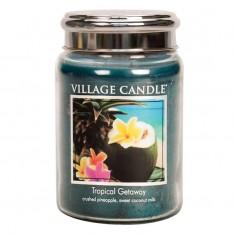 Tropical Getaway - Village Candle Large Jar