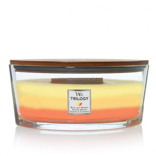 Tropical Sunrise - WoodWick Trilogy Ellipse with lid