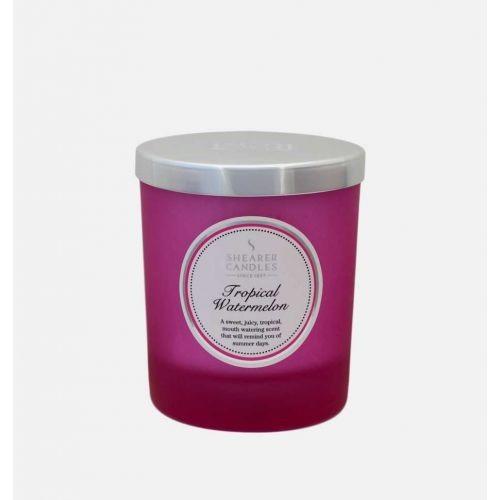 Tropical Watermelon - Small Pillar Jar Candle