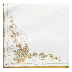 Two Doves White Wedding Paper Napkins back