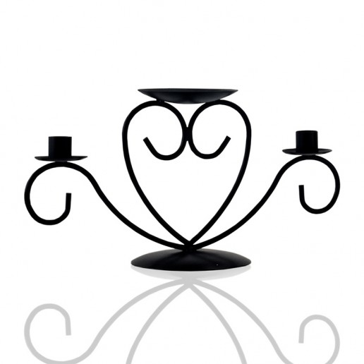 Unity Candle Holder - Black on white