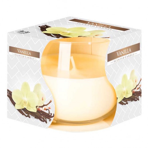 Vanilla - Scented Candle in Glass Best Smelling Cheap Sale Discounts