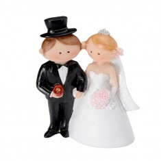 Wedding Cake Topper Funny Character Couple 1 white