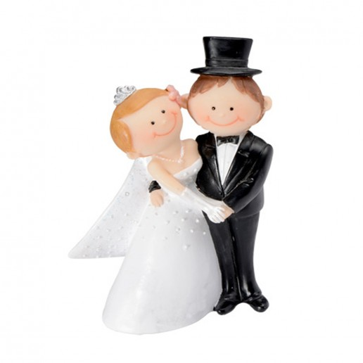 Wedding Cake Topper Funny Character Couple 2 white
