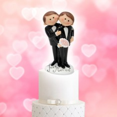 Wedding Cake Topper Funny Character Gay Couple