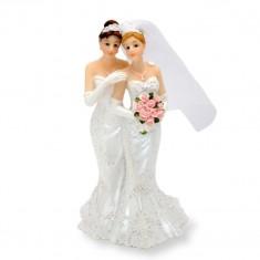 Wedding Cake Topper Lesbian Couple Dress-Dress white