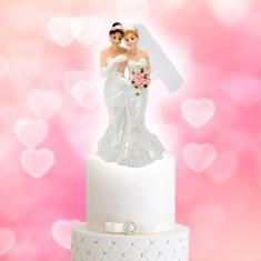 Wedding Cake Topper Lesbian Couple Dress-Dress