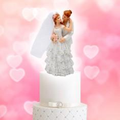 Wedding Cake Topper Lesbian Couple Dress-Suit