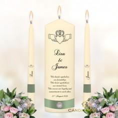 Wedding Unity Candles Ivory - Claddagh.jpg