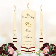 Wedding Unity Candles Ivory - Rings Gold.jpg